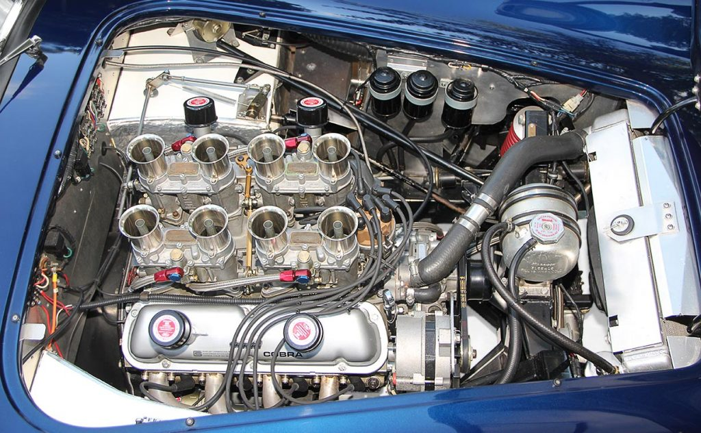 photo#1 (from passenger side) of 347cid small-block engine of Ford Dark Blue 289 USRRC E.R.A. (Shelby classic style) Cobra for sale