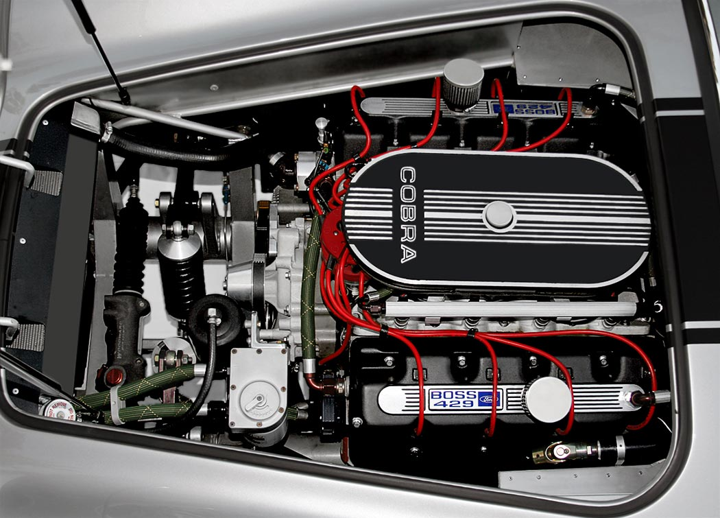 'Boss 429' engine in Stuttgart Silver Cutting Edge Replicas 427SC Shelby classic Cobra for sale by owner.
