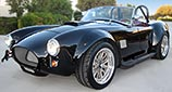 3/4-frontal thumbnail image of black Factory Five Racing MkIII 427SC Shelby classic Cobra replica for sale by owner