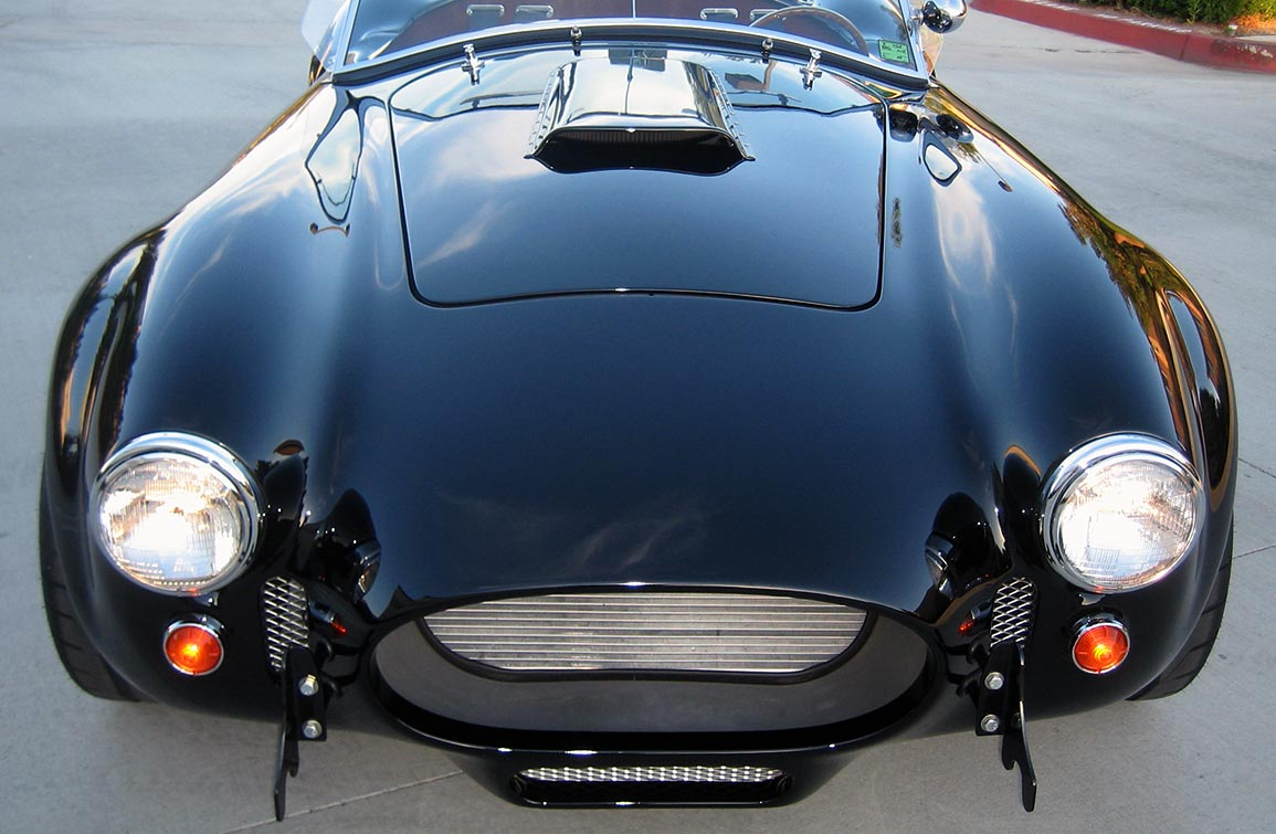 head-on frontal shot#2 of black Factory Five Racing MkIII 427SC Shelby classic Cobra replica for sale by owner