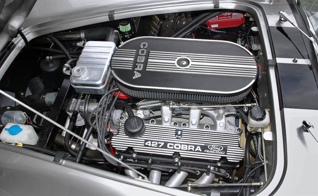 Ford Racing engine photo#1 of Sunset Red Superformance 427SC Shelby classic Cobra for sale, SPO2198