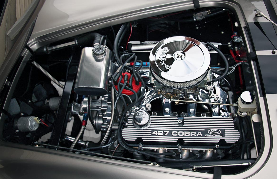 engine photo#1 (393 cid Windsor stroker) of Titanium Superformance 427SC Shelby classic Cobra for sale by owner, SPO1176
