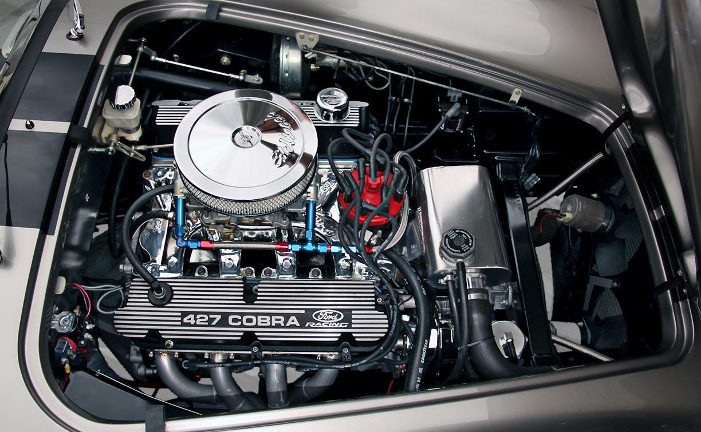 engine photo#2 (393 cid Windsor stroker) of Titanium Superformance 427SC Shelby classic Cobra for sale by owner, SPO1176