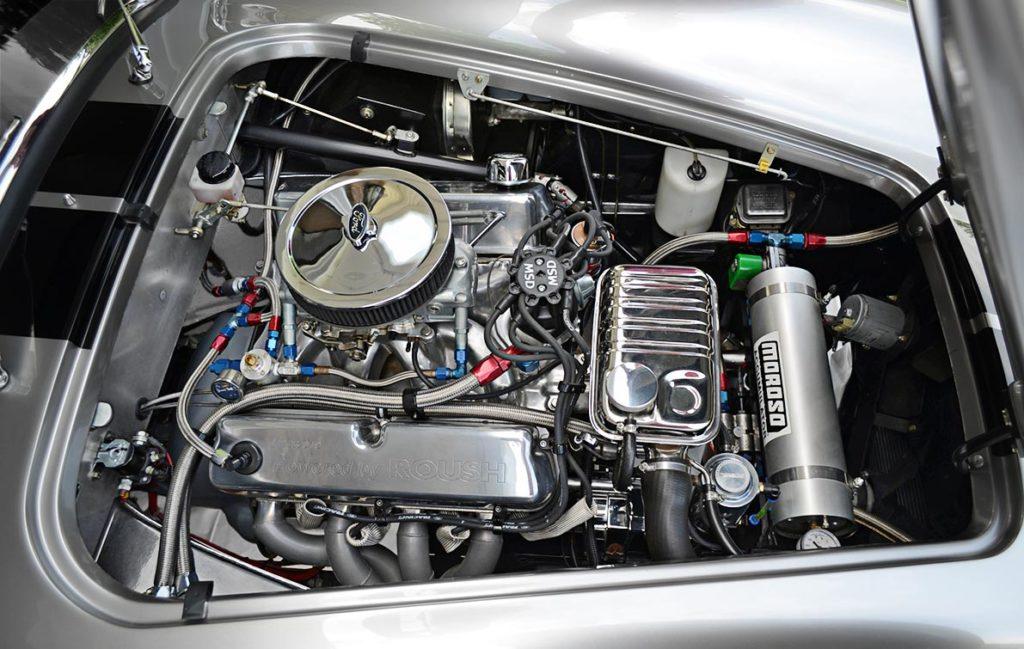 Jack Roush 427R Windsor stroker V8 in Titanium/Onyx Black LeMans stripes Superformance 427SC Shelby Cobra for sale, SPO1797