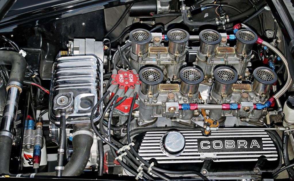 427 engine photo of Onyx Black Superformance 427SC MkIII Shelby classic Cobra for sale, SPO1948