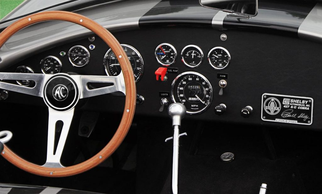 Shelby Cobra dashboard