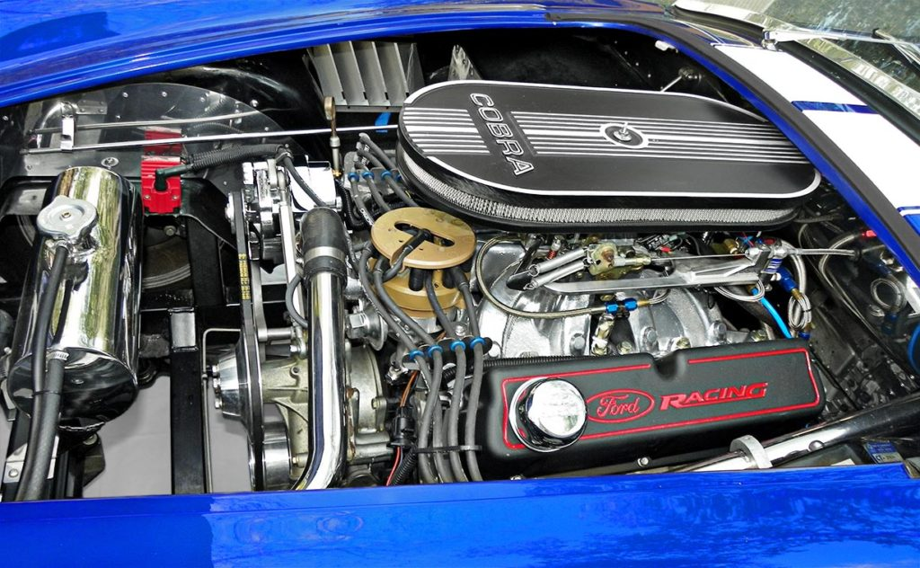 427 engine photo of Speedway Blue Backdraft Racing classic Shelby Cobra Vehicle for sale by owner