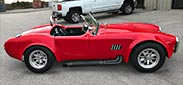 broadside thumbnail image of Hot Red Antique & Classic 427SC Shelby classic Cobra replica for sale