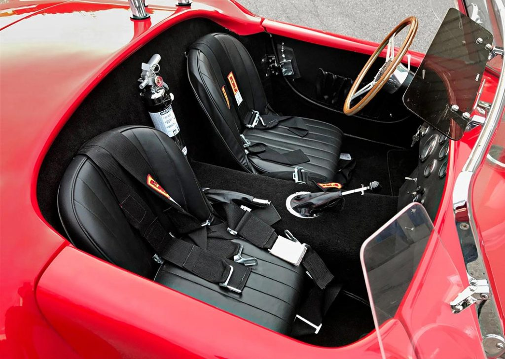 cockpit shot#1 (from passenger side) of Hot Red Antique & Classic 427SC Shelby classic Cobra replica for sale