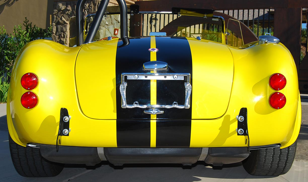 rear shot#1 of Candy Lime Gold FFR (Factory Five Racing) 427SC Shelby classic Cobra for sale by owner