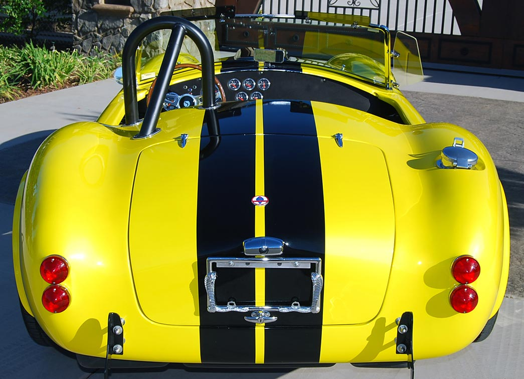 rear shot#2 of Candy Lime Gold FFR (Factory Five Racing) 427SC Shelby classic Cobra for sale by owner