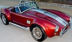 3/4-frontal thumbnail image of Crimson Red Backdraft Racing 427SC Shelby classic Cobra for sale, BDR089