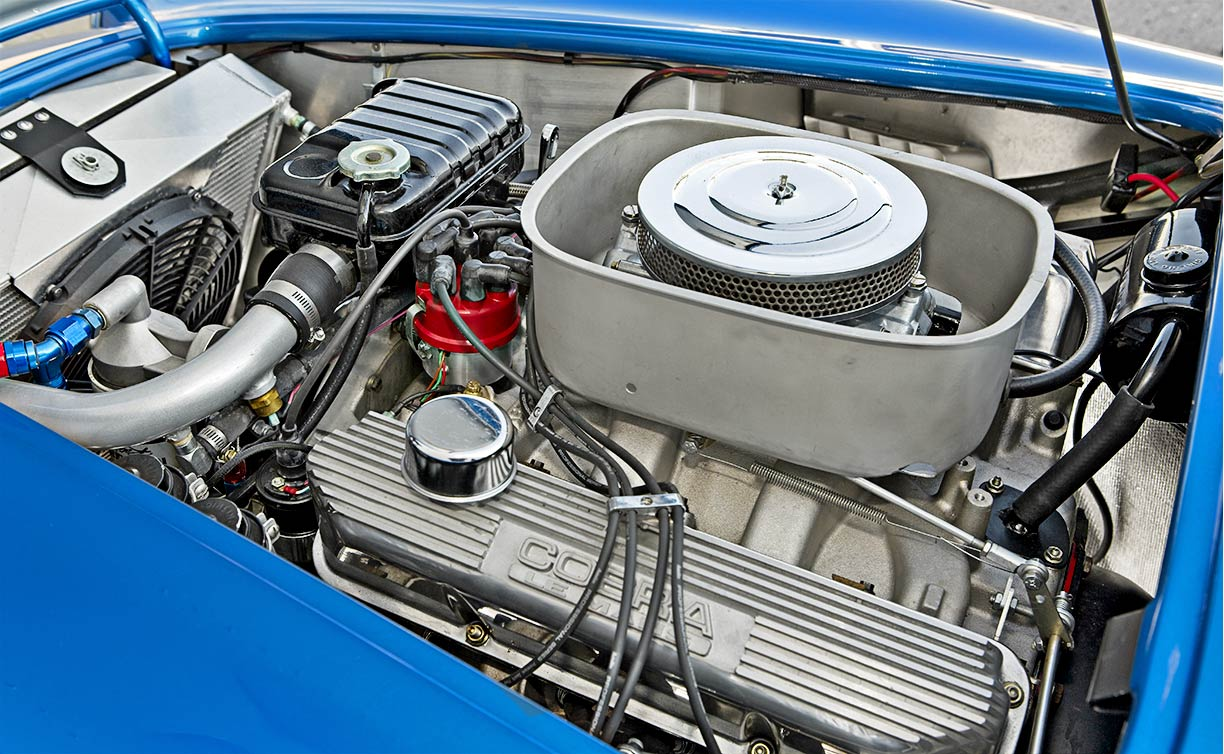 photo#1 of Shelby 427 engine in 40th Anniversary 427SC Shelby Cobra for sale, CSX4338, painted in Anniversary Blue