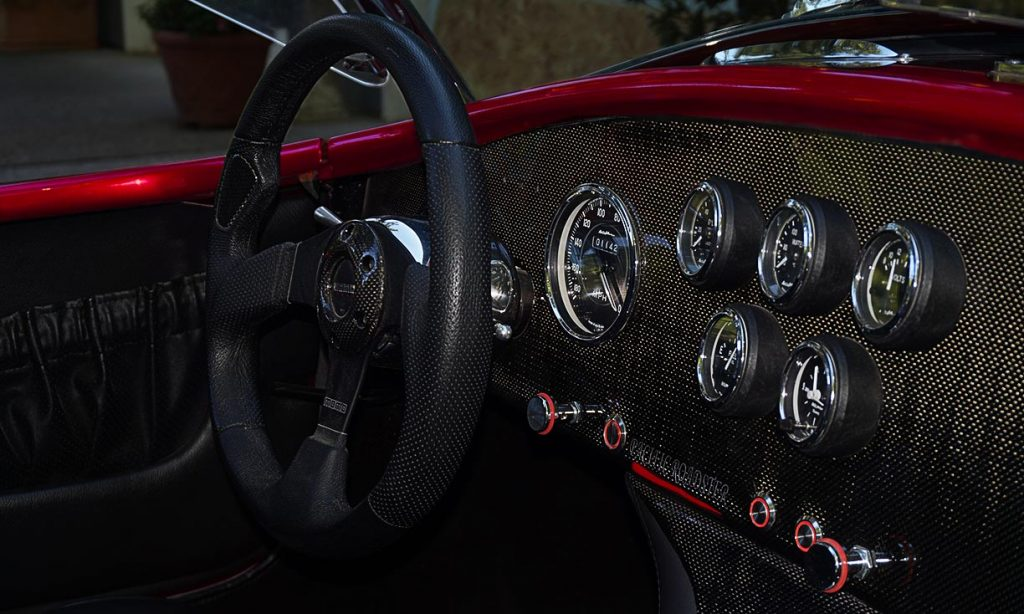 dashboard shot#1 of Ruby Red Pacific Roadster 427SC Shelby classic Cobra for sale
