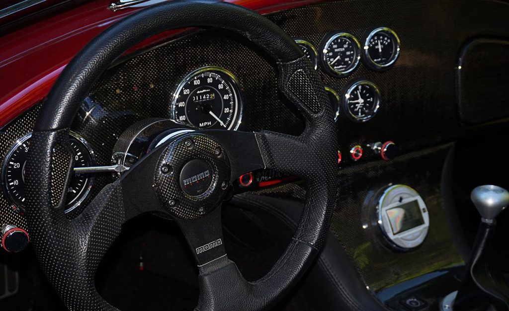 dashboard shot#2 of Ruby Red Pacific Roadster 427SC Shelby classic Cobra for sale