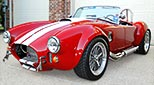 3/4-frontal thumbnail image of Rosso Red Backdraft Racing 427SC Shelby classic Cobra for sale, BDR****