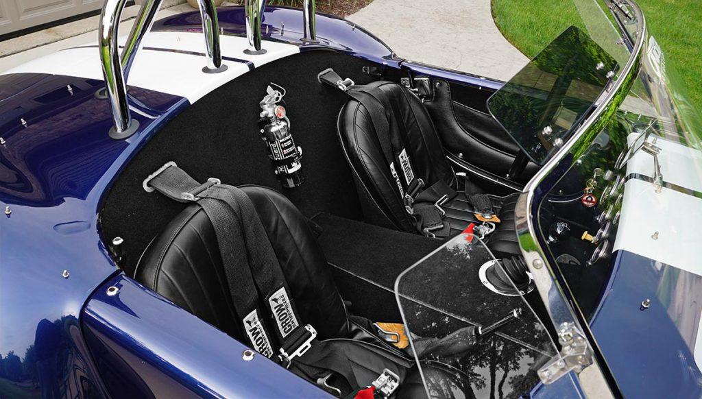 cockpit shot#2 (from passenger side) of Audi Navarra Blue Unique Motorcars 427SC Shelby classic Cobra for sale