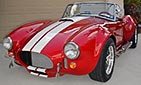 3/4-frontal thumbnail image of Rossa Red 427SC Shelby classic Backdraft Racing Cobra for sale by owner, BDR661