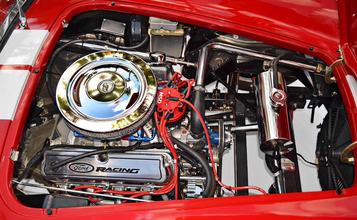 1969 Ford 351W V8 5.8L photo#2 (from passenger side) of Rossa Red 427SC Shelby classic Backdraft Racing Cobra for sale by owner, BDR661