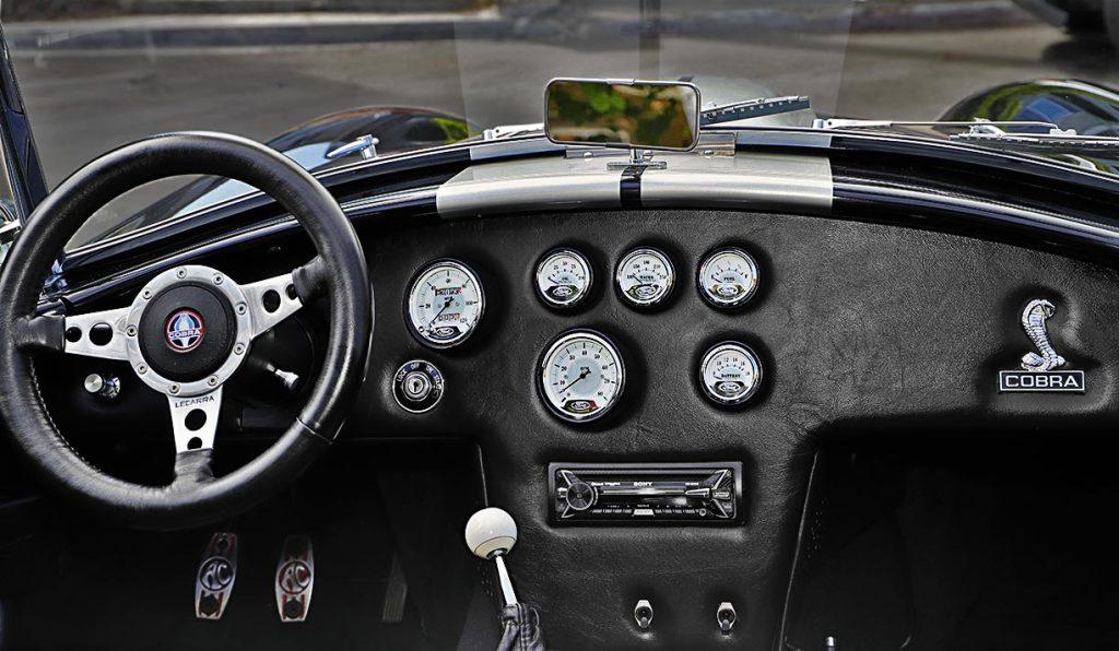 Shelby Cobra replica dashboard