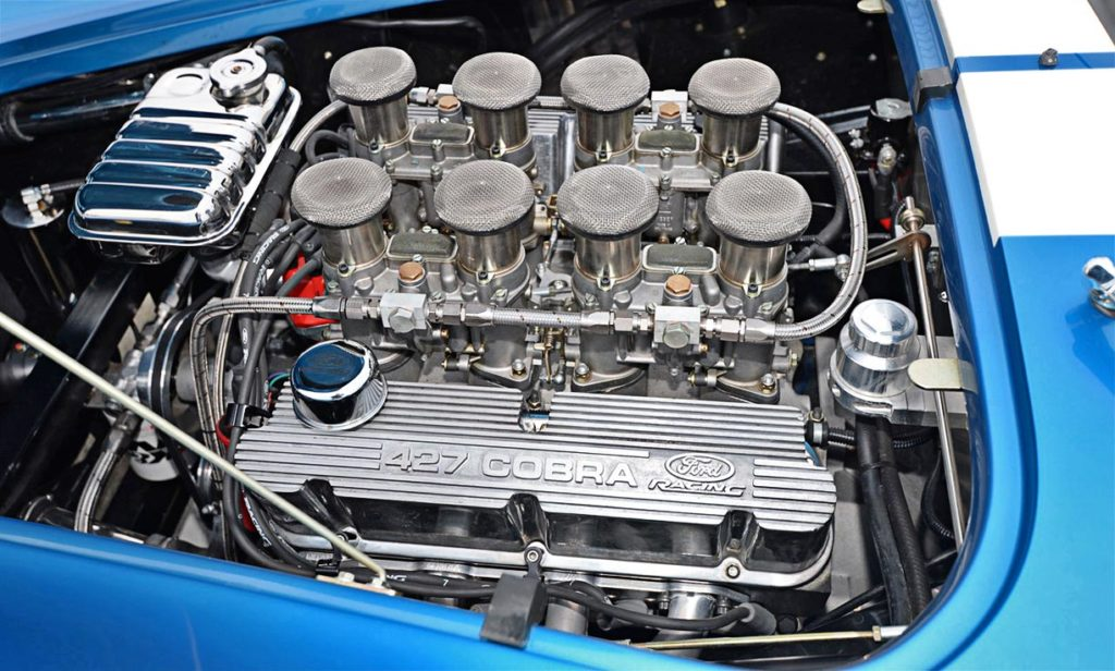 Ford Racing Z427FFT engine photo#1 of Guardsman Blue/white stripes Superformance 427SC Cobra for sale, SPO3164