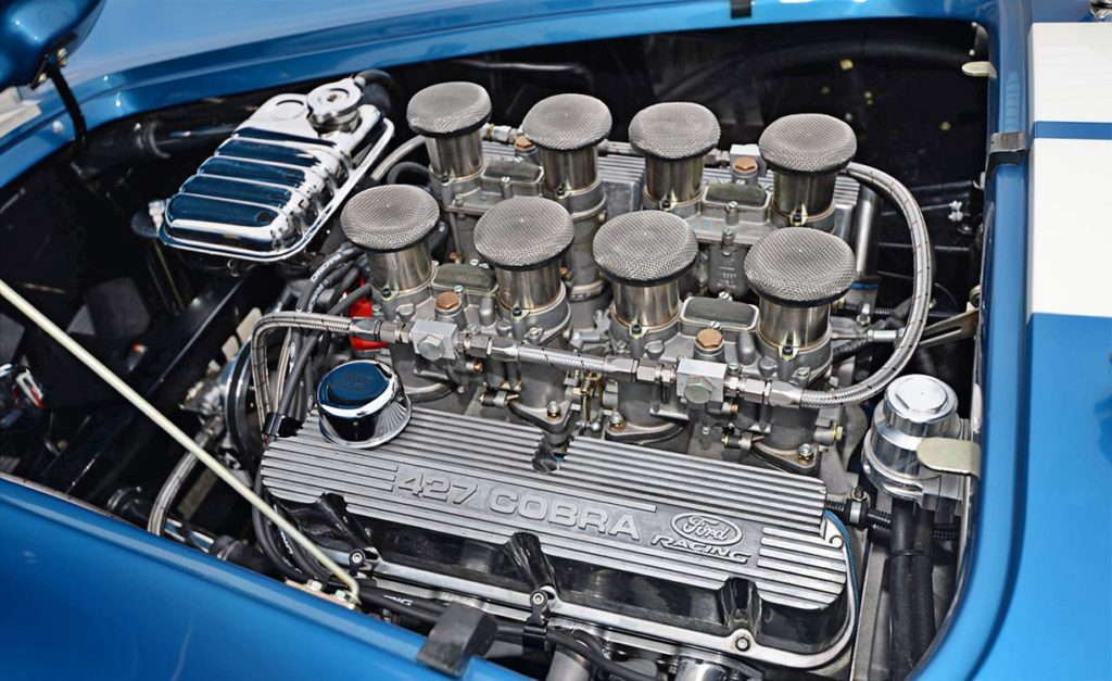 Ford Racing Z427FFT engine photo#3 of Guardsman Blue/white stripes Superformance 427SC Cobra for sale, SPO3164