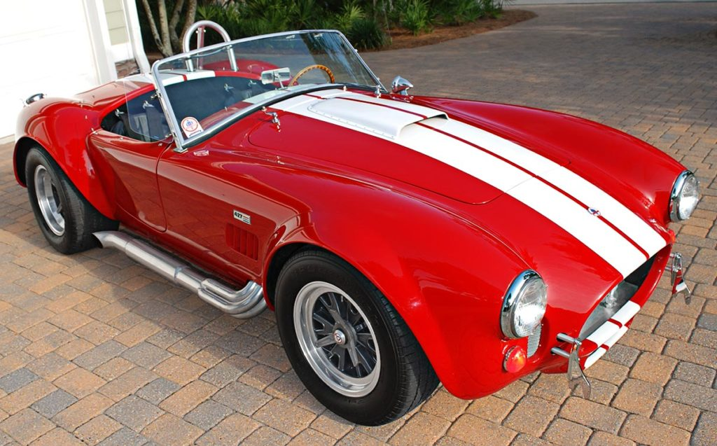3/4-frontal (passenger side) image of Phoenix Red E.R.A. 427SC Shelby Cobra vehicle for sale by owner