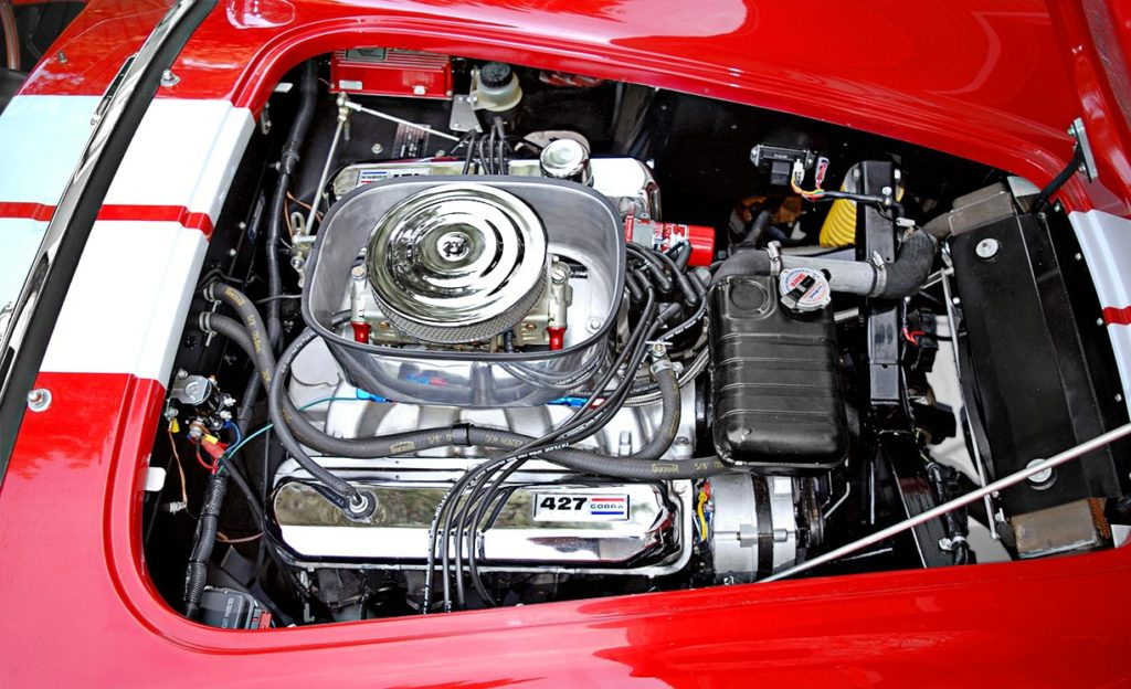 428FE engine photo of Phoenix Red E.R.A. 427SC Shelby Cobra vehicle for sale by owner