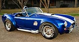 3/4-frontal thumbnail image of Prussian Blue Factory Five Racing 427SC Cobra for sale by owner; category: classic Shelby Cobra Vehicle for Sale