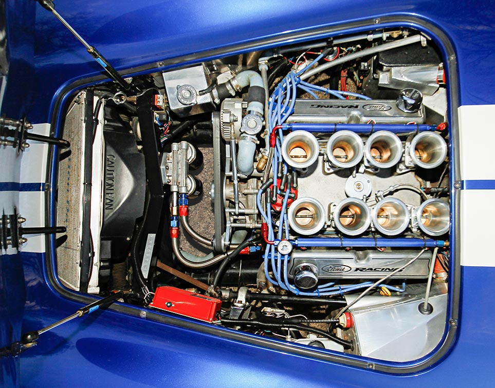 engine photo of Prussian Blue Factory Five Racing 427SC Cobra for sale by owner; category: classic Shelby Cobra Vehicle for Sale