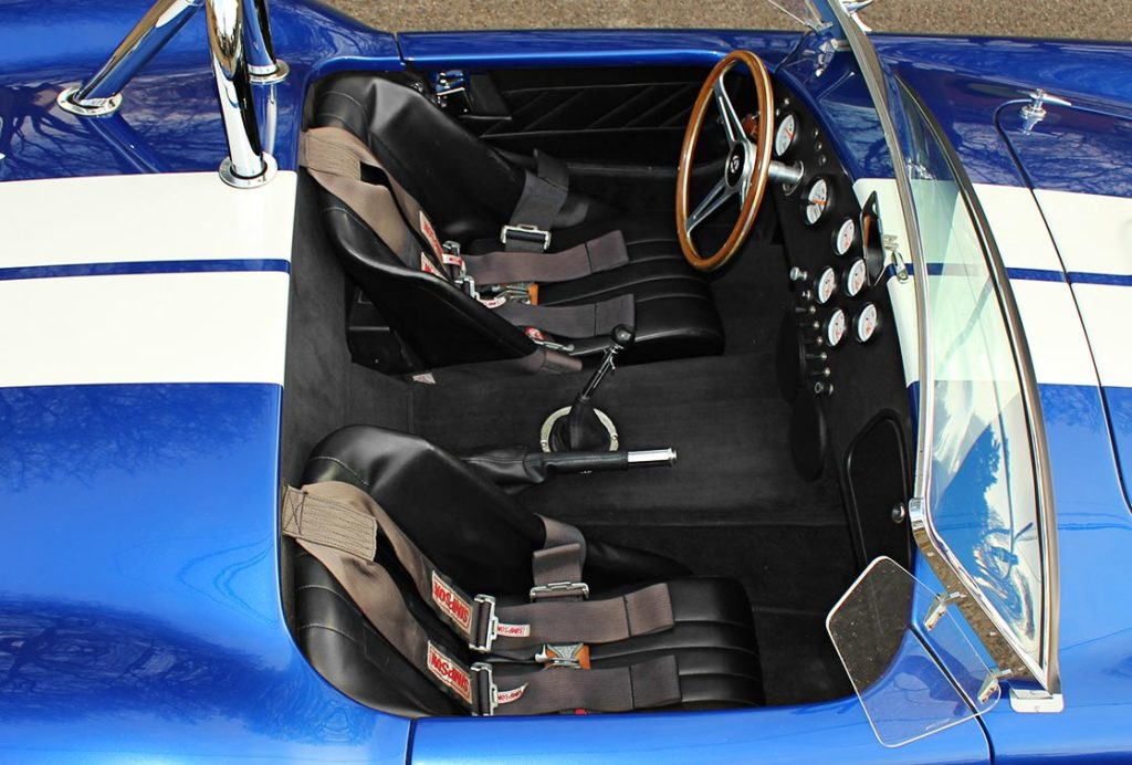 cockpit shot of Prussian Blue Factory Five Racing 427SC Cobra for sale by owner; category: classic Shelby Cobra Vehicle for Sale
