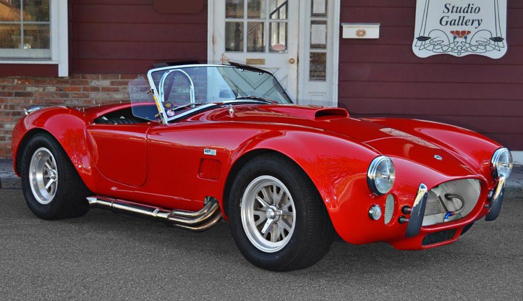 3/4-frontal shot (passenger side) of Red ERA (E.R.A., Era Replica Automobiles) 427SC Cobra for sale