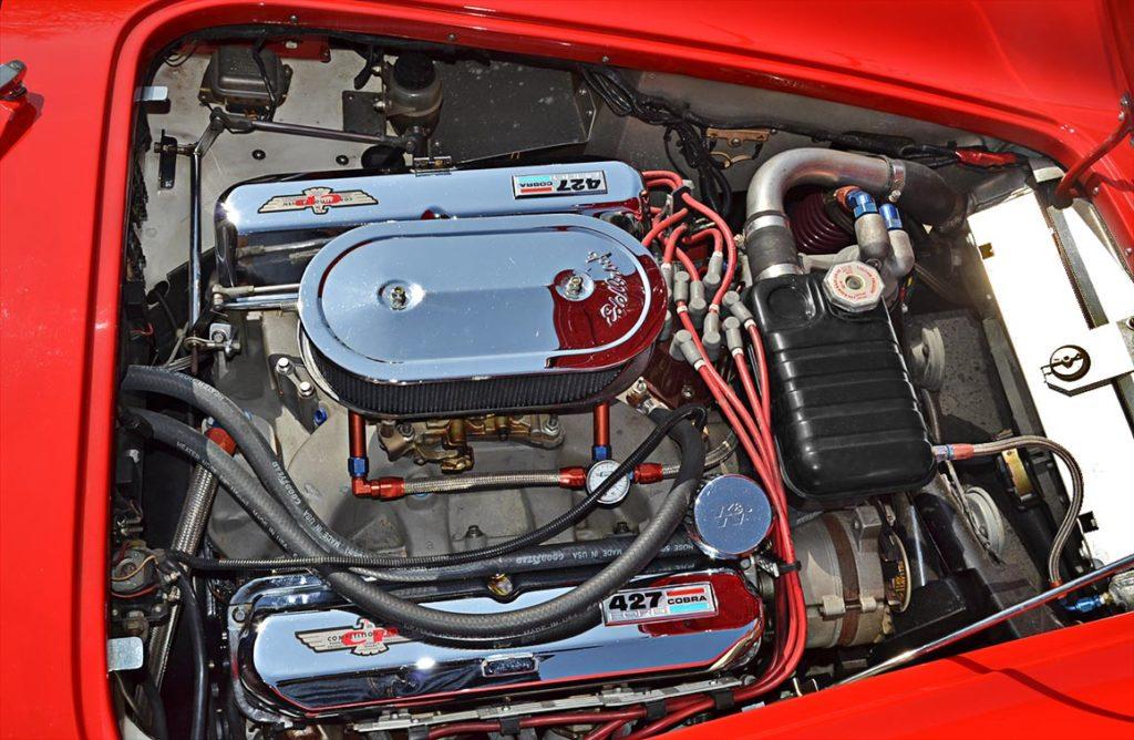 427FE side-oiler engine photo (Passenger side) of Red ERA (E.R.A., Era Replica Automobiles) 427SC Cobra for sale