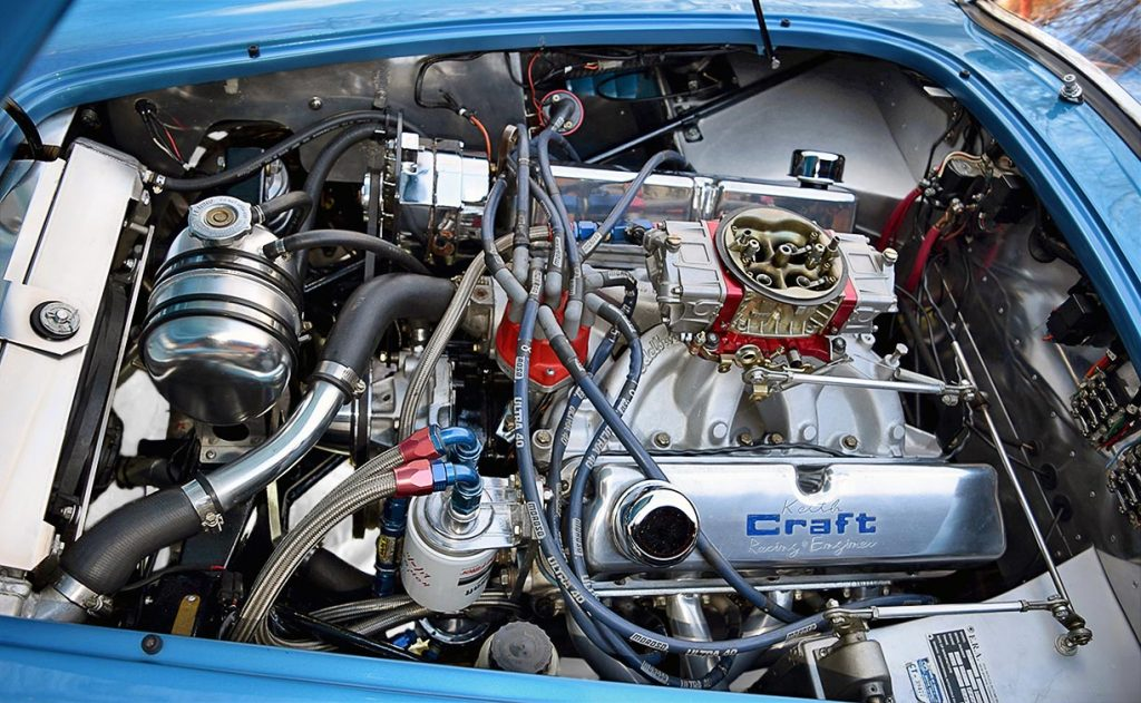 Keith Craft 427cid stroker Windsor engine in Maui Blue E.R.A. 289FIA Shelby classic Cobra for sale by owner