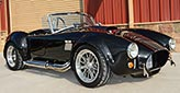 3/4-frontal thumbnail image of Black Magic Backdraft Racing 427SC Shelby classic Cobra for sale, BDR1050