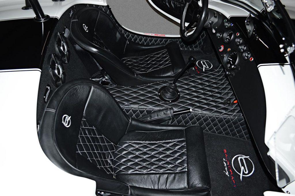cockpit shot#1 of Diamond White Backdraft Racing 427 Shelby classic Cobra Roadster for sale, BDR1751