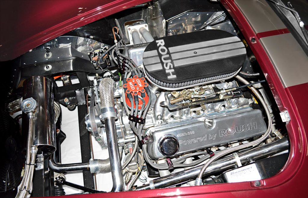 Roush 402R V8 (view#1) in Prism Red Backdraft Racing replica of Shelby classsic 427SC Cobra for sale, BDR625