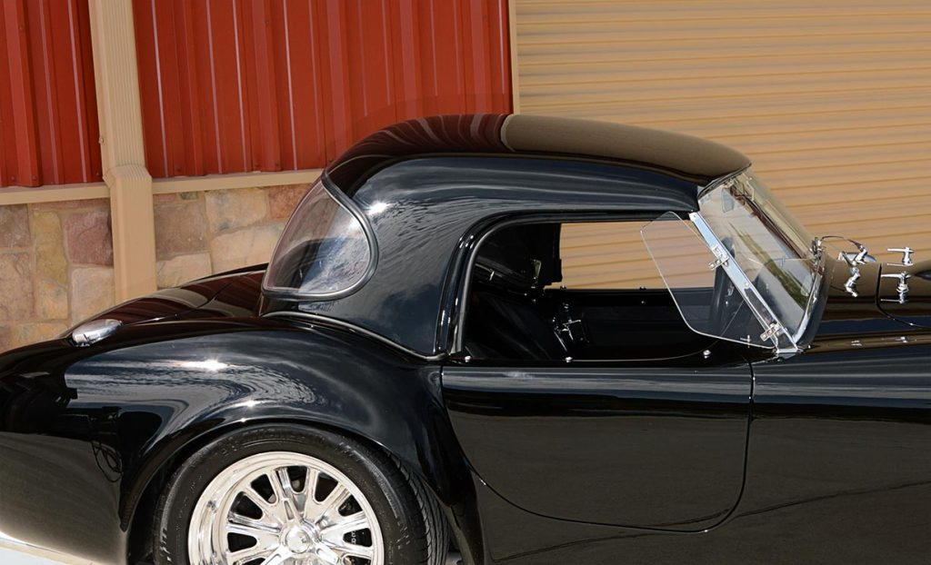 hardtop shot of Onyx Black Superformance 427 Shelby classic Cobra street version Roadster for sale, SPO1869