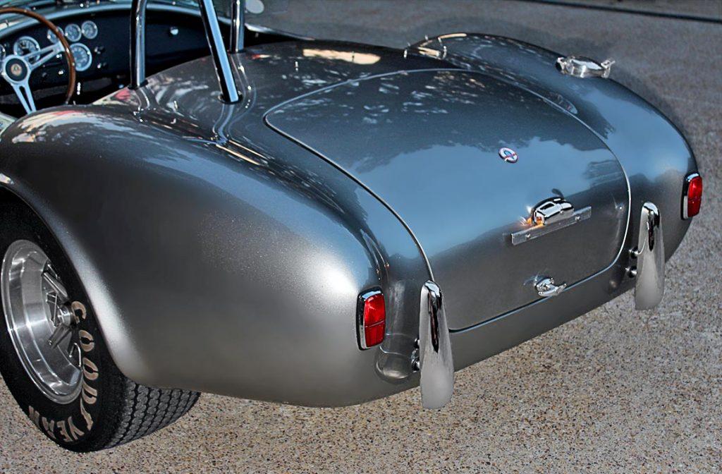rear-quarter shot of Titanium classic E.R.A. 427SC Cobra for sale
