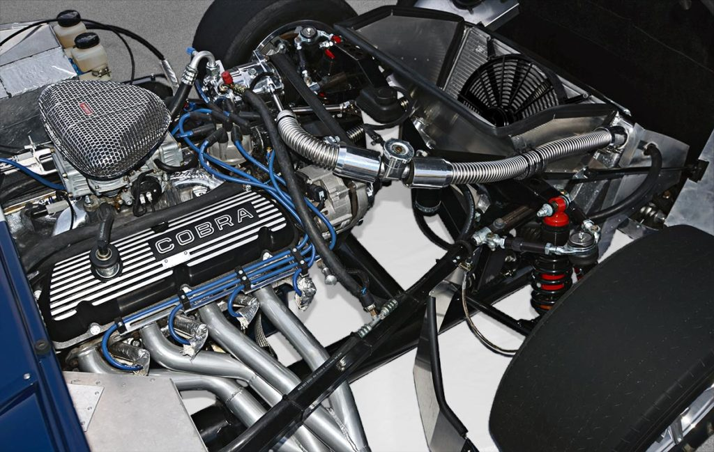 engine shot#1 (from passenger side) of Indigo Blue Factory Five Racing Type 65 Daytona Coupe for sale by owner