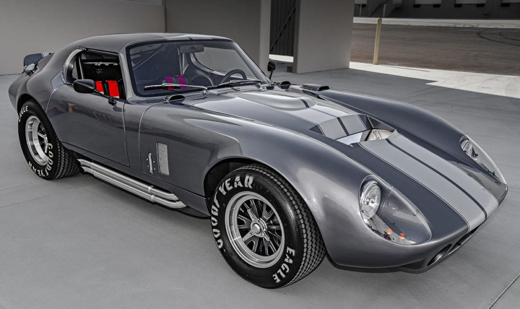 /4-frontal photo (passenger side) of Tungsten Gray Type 65 Series II Daytona Coupe by Factory Five Racing, for sale by owner