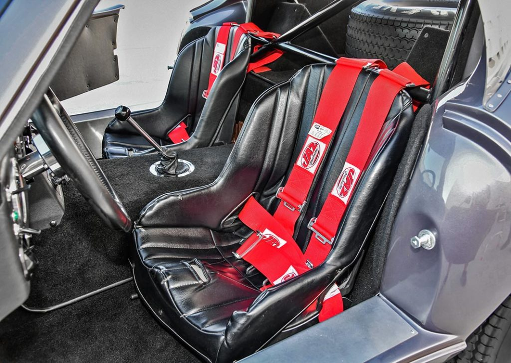 seating area shot of Tungsten Gray Type 65 Series II Daytona Coupe by Factory Five Racing, for sale by owner
