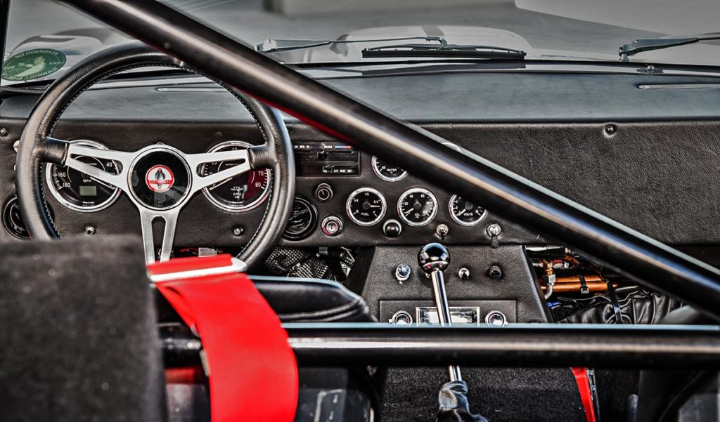 dashboard shot of Tungsten Gray Type 65 Series II Daytona Coupe by Factory Five Racing, for sale by owner