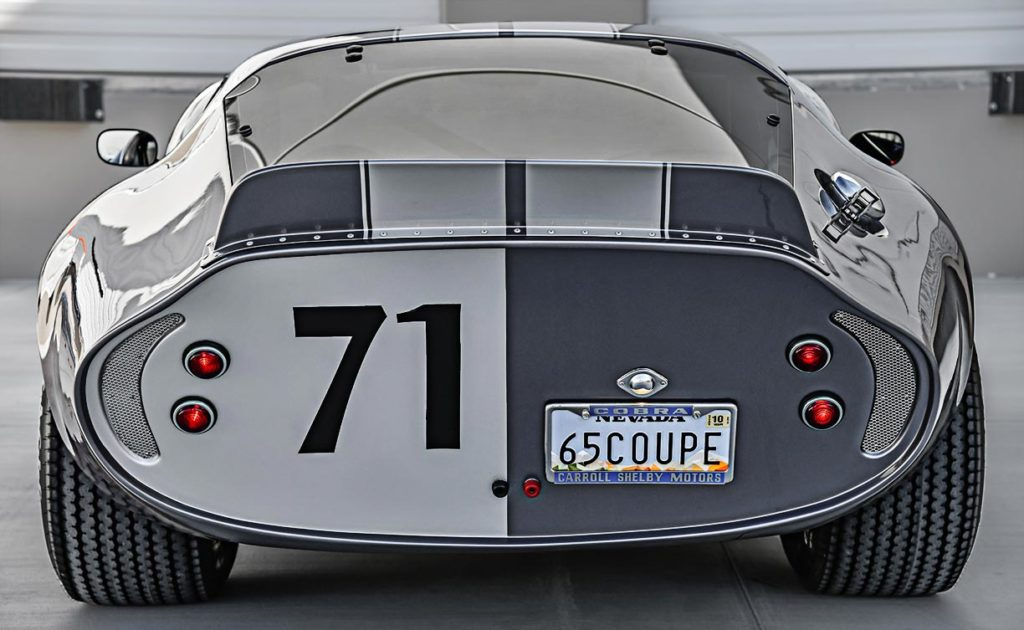 rear view of Tungsten Gray Type 65 Series II Daytona Coupe by Factory Five Racing, for sale by owner