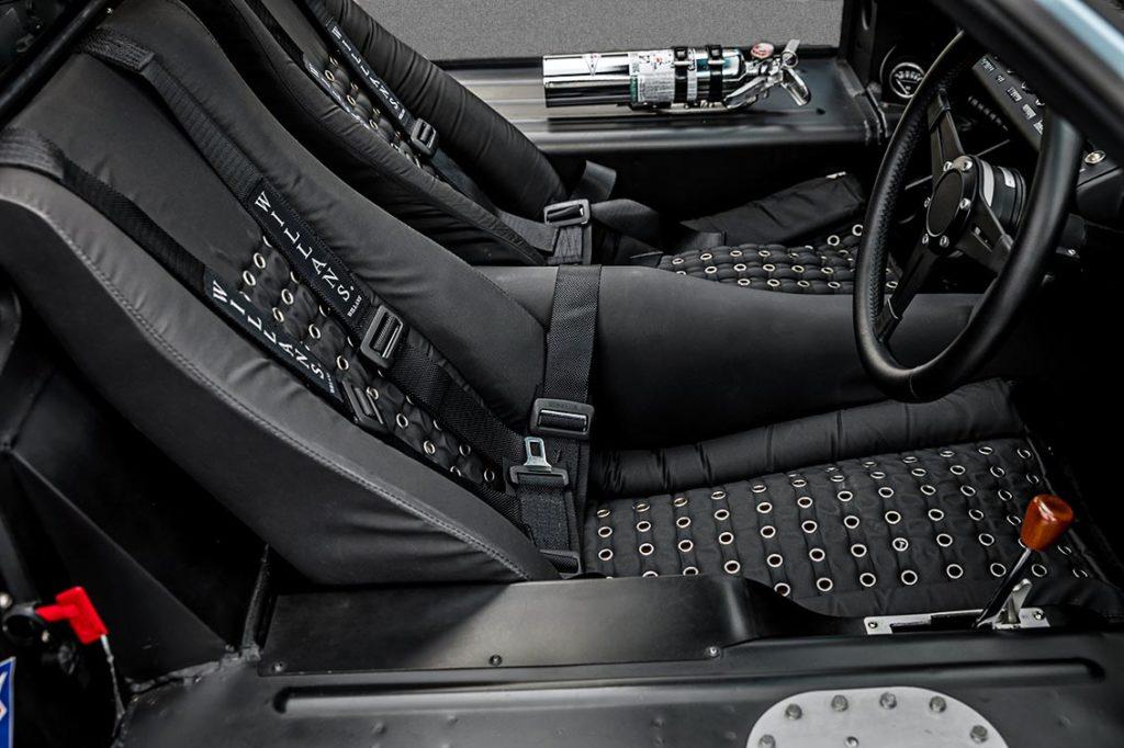 cockpit shot (RHS) of Gulf Blue Superformance GT40 Mk1 for sale, P2212