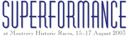 Cobra Country's custom masthead for Superformance feature article at MHR, 15–17 August 2003